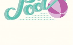 001 Rare Free Pool Party Invitation Template Printable Picture  Card Summer