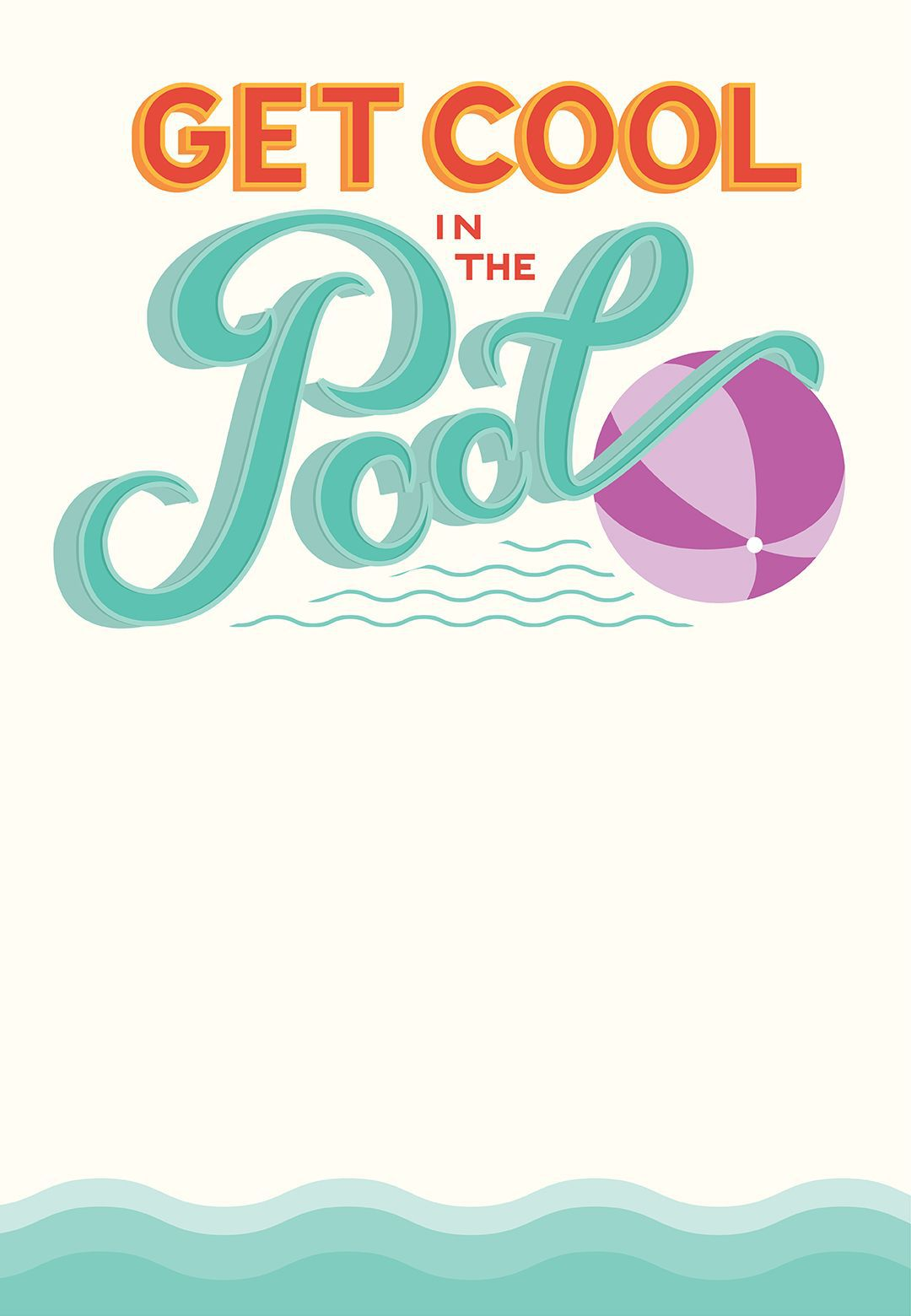 001 Rare Free Pool Party Invitation Template Printable Picture  Card SummerFull