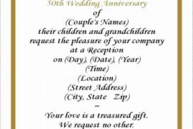 001 Rare Free Printable 50th Wedding Anniversary Invitation Template Design