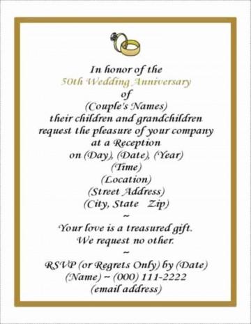 001 Rare Free Printable 50th Wedding Anniversary Invitation Template Design 360