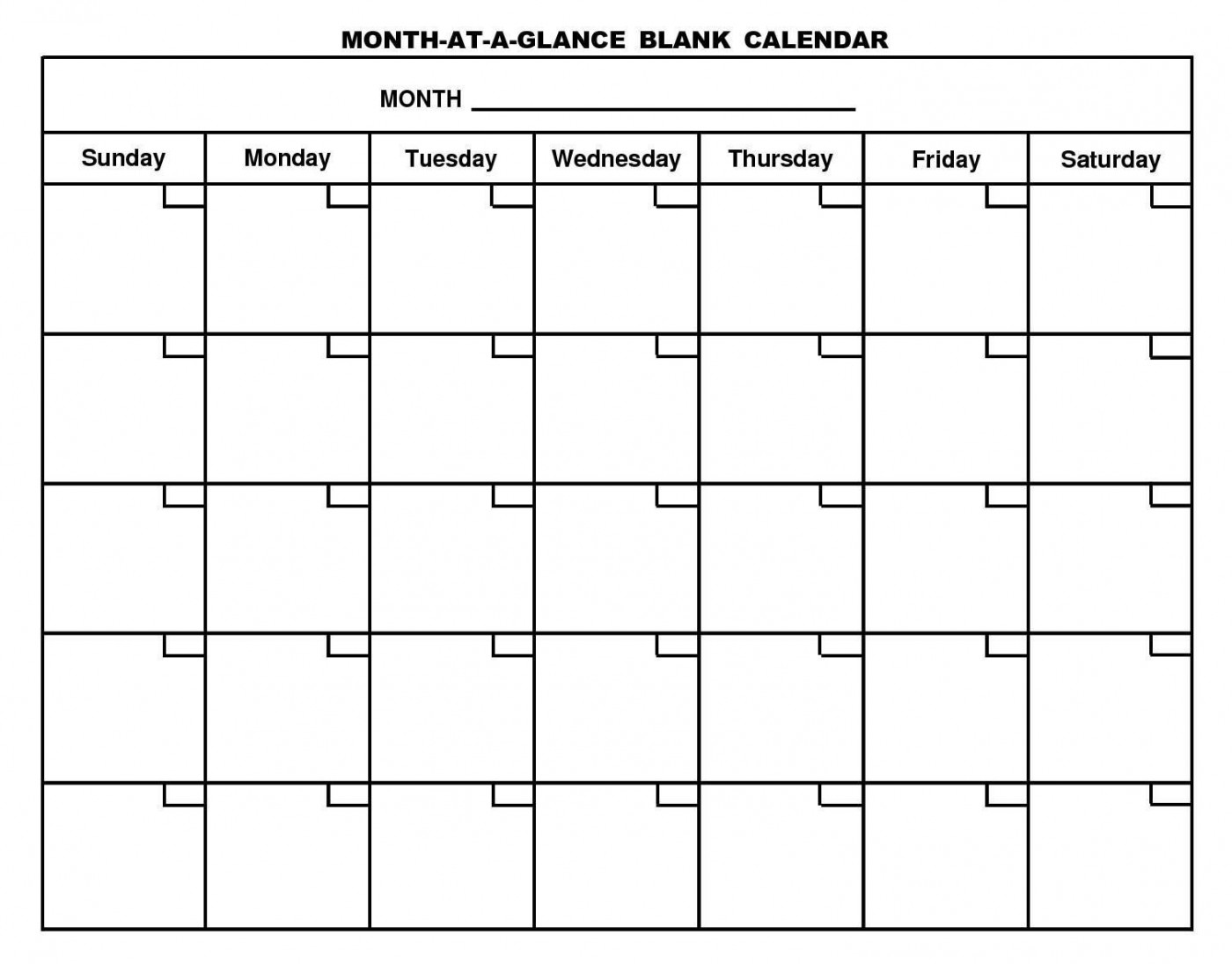 001 Rare Free Printable Blank Monthly Calendar Template High Resolution 1400