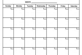 001 Rare Free Printable Blank Monthly Calendar Template High Resolution