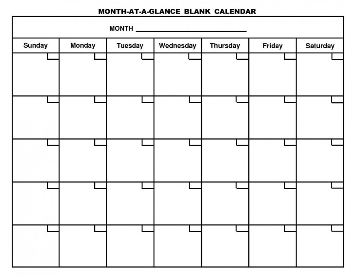 001 Rare Free Printable Blank Monthly Calendar Template High Resolution 728