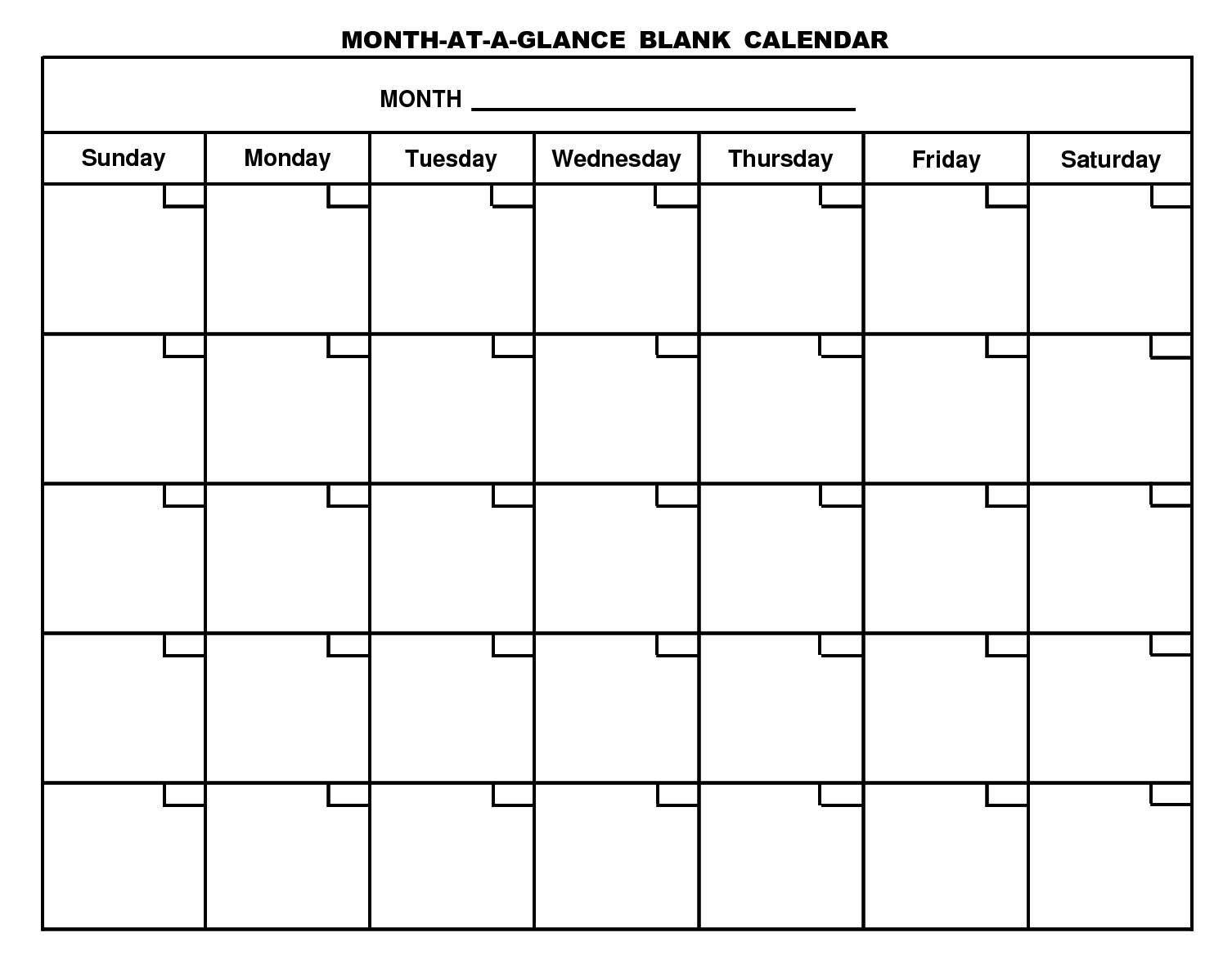 001 Rare Free Printable Blank Monthly Calendar Template High Resolution Full