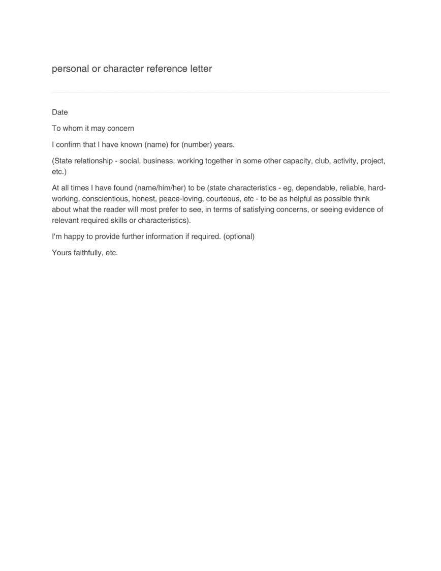 001 Rare Free Reference Letter Template For Tenant Example 868