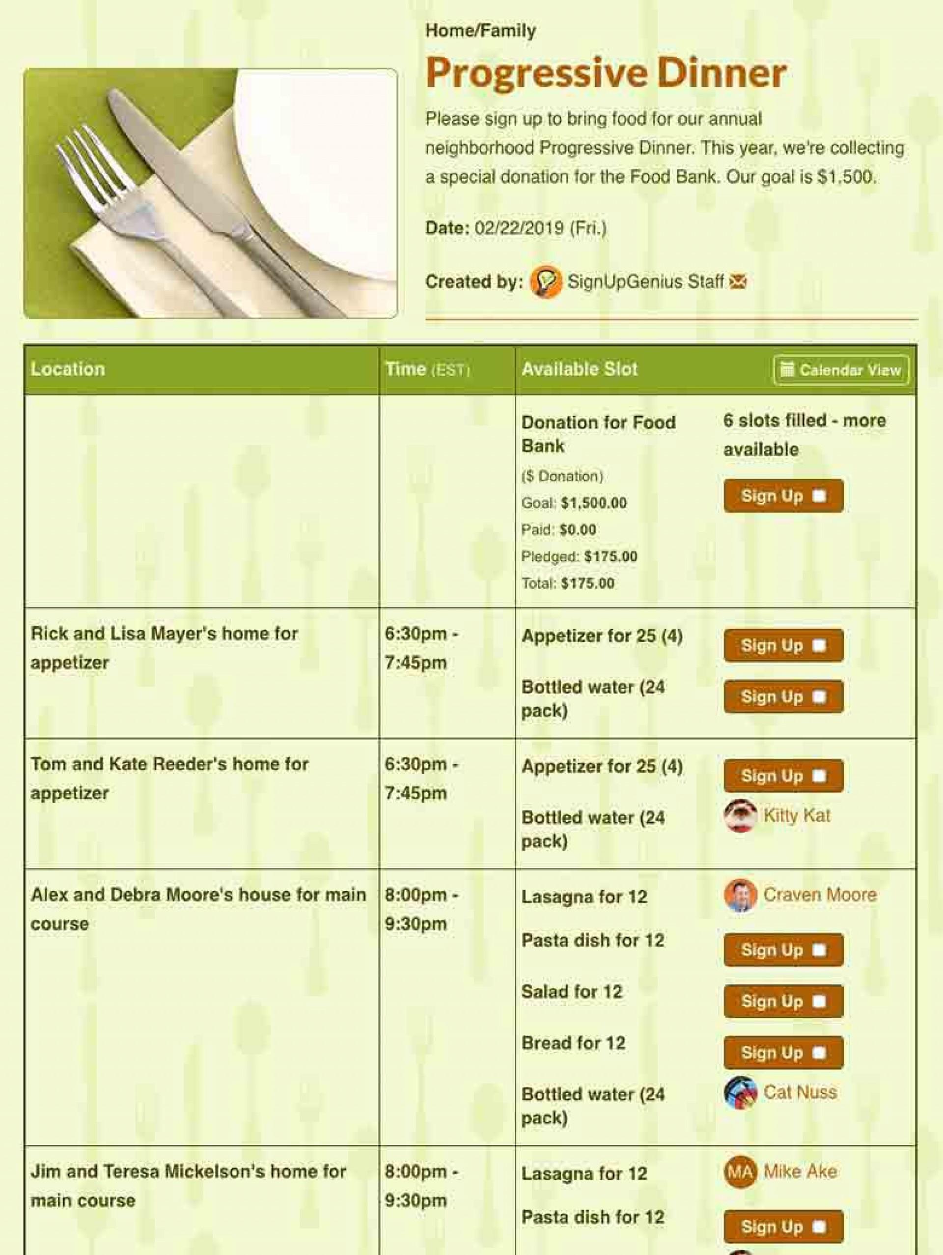 001 Rare Meal Sign Up Sheet Template High Def  Christma Potluck Free Printable Blank1920