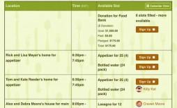 001 Rare Meal Sign Up Sheet Template High Def  Christma Potluck Free Printable Blank