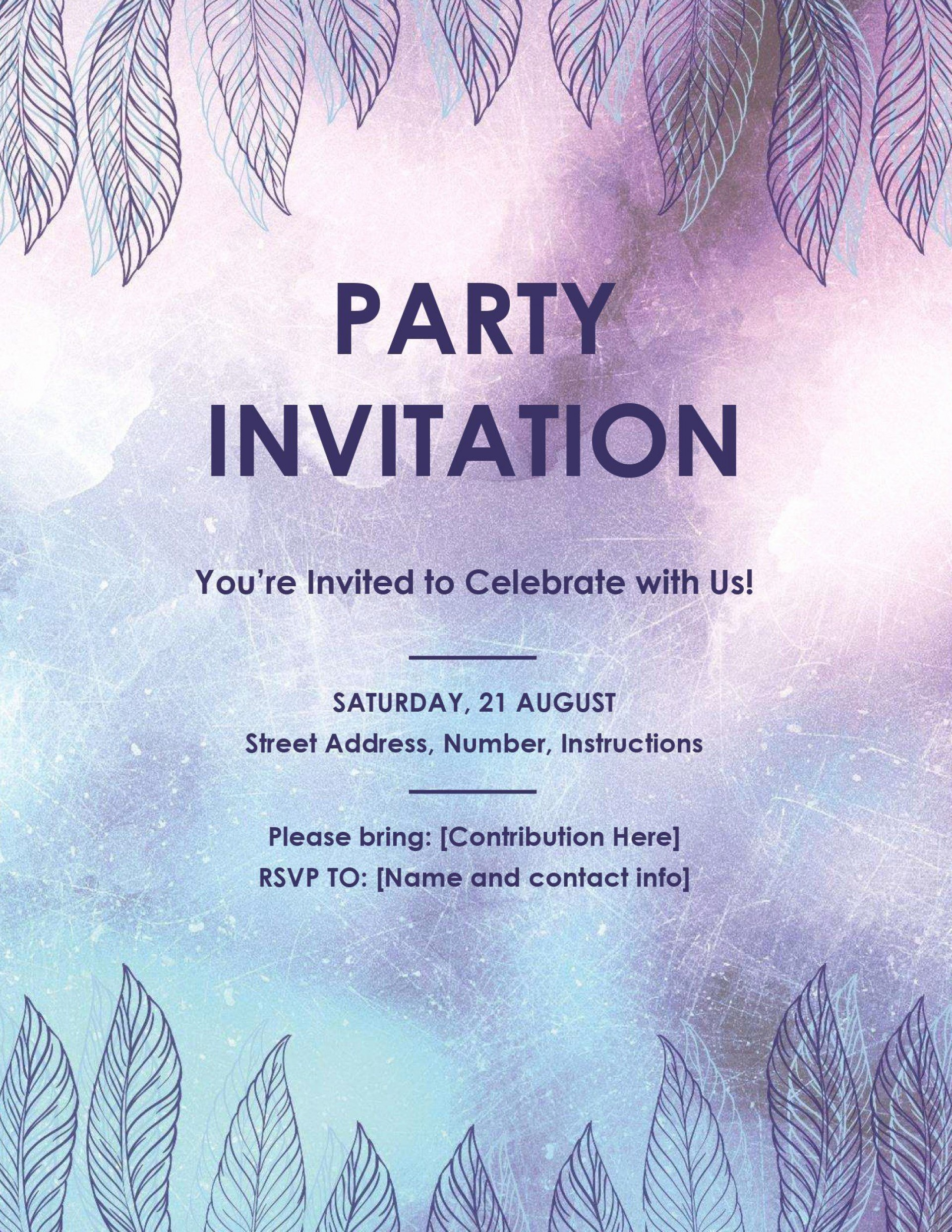 001 Rare Microsoft Office Invitation Template Photo  Templates Holiday Party Publisher1920