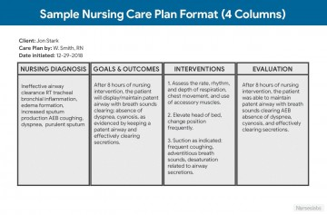 001 Rare Nursing Care Plan Template High Definition  Free Pdf Download360