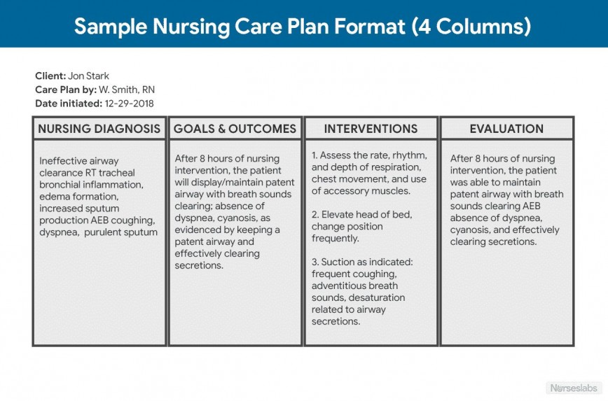 001 Rare Nursing Care Plan Template High Definition  Free Pdf Download868