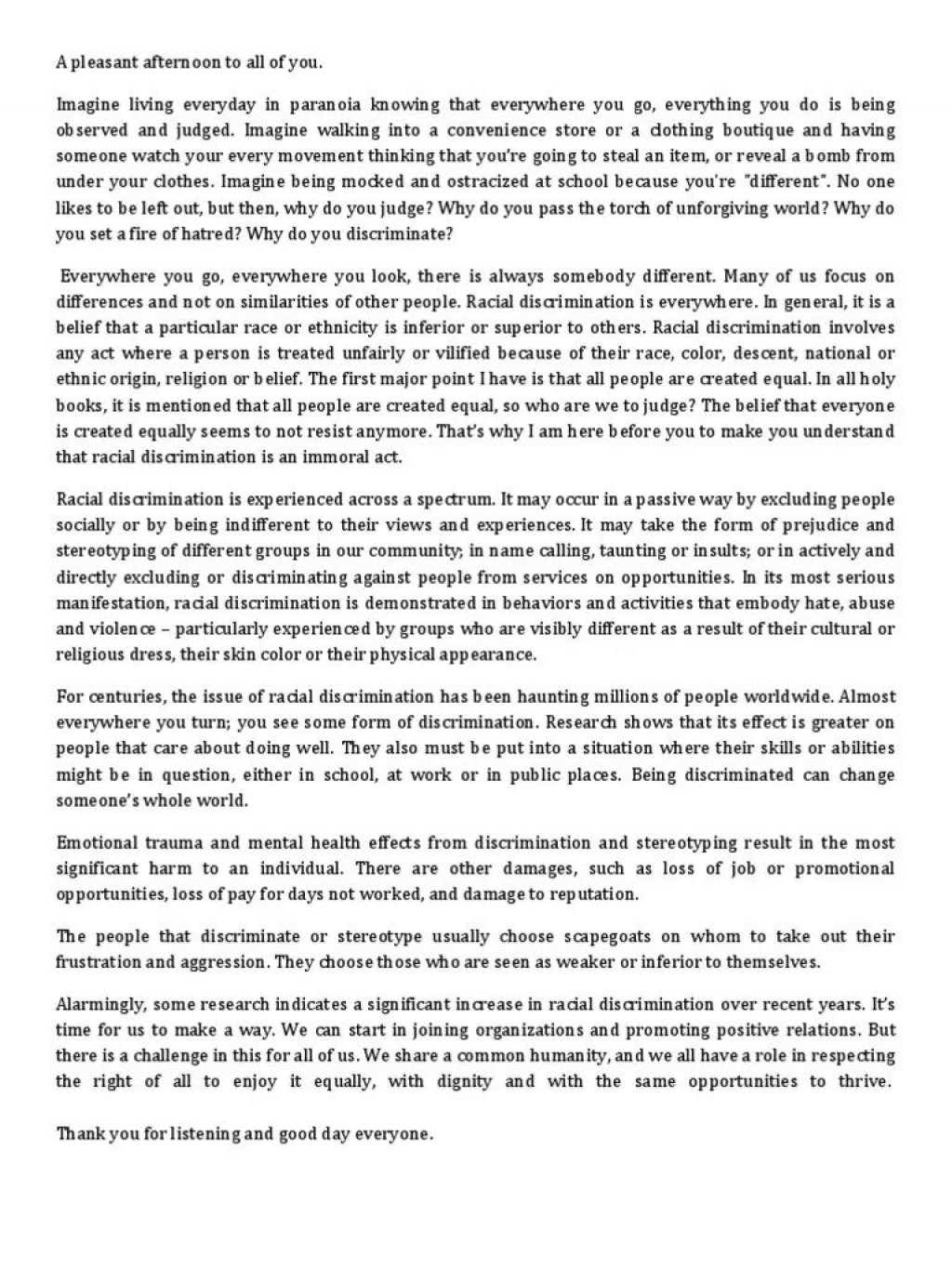 001 Rare Racism Essay Idea  Brainly Writing Competition TagalogLarge