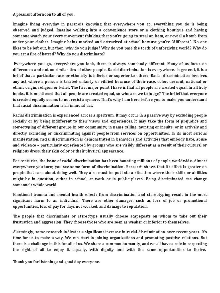 001 Rare Racism Essay Idea  Brainly Writing Competition TagalogFull