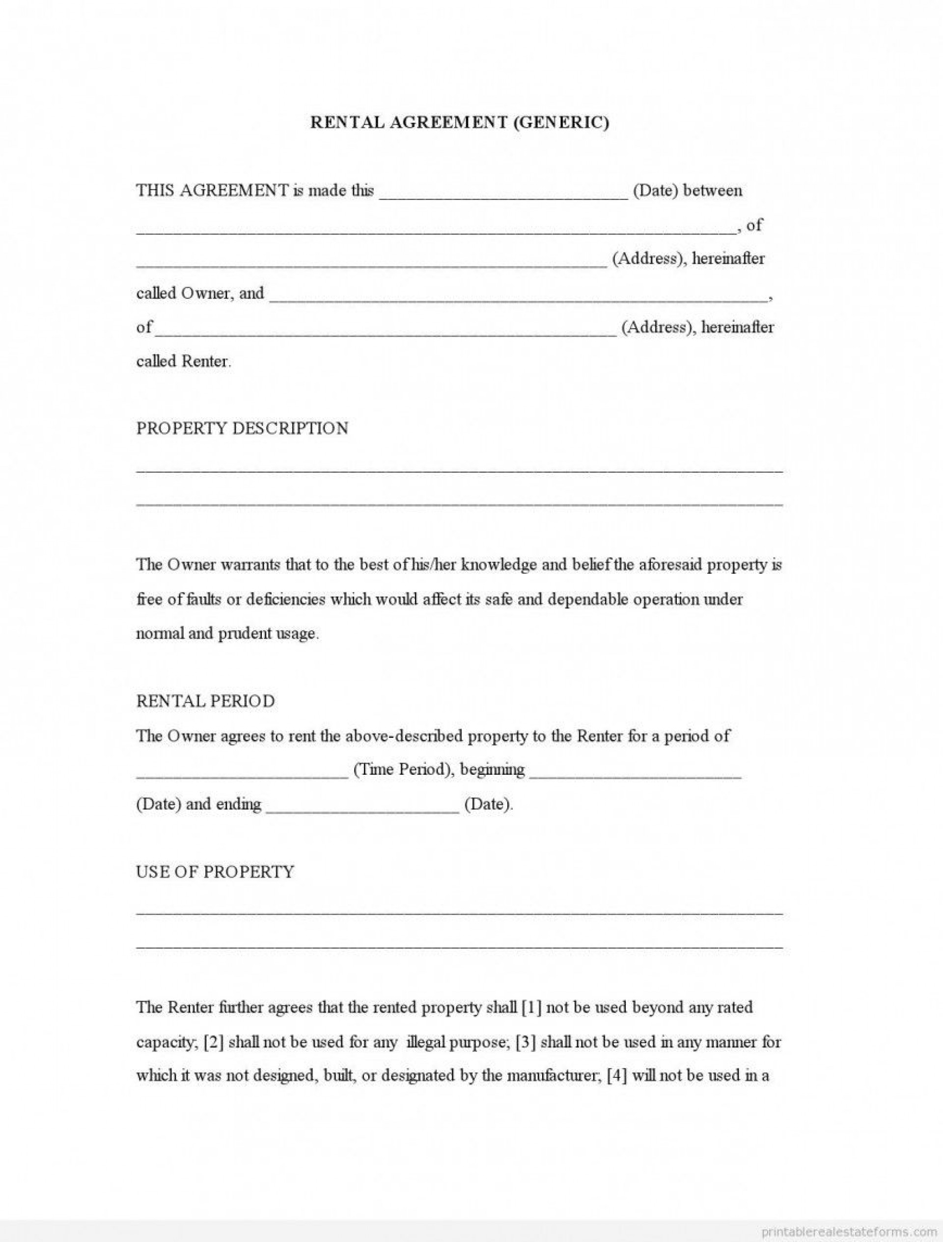 001 Rare Rental Agreement Template Free Photo  Lease Format Bangalore Download Word South Africa Room Doc1920