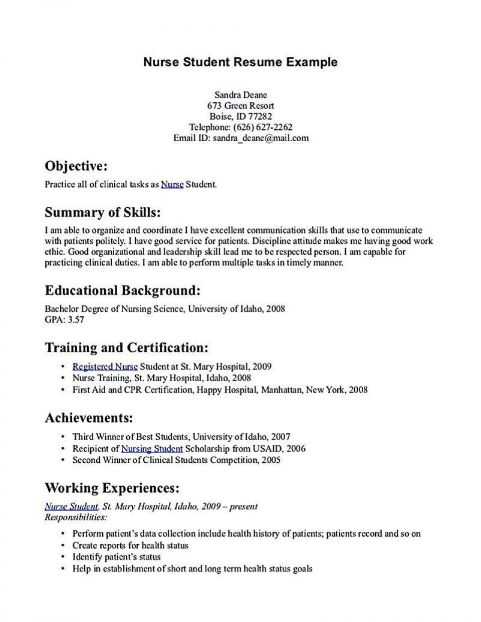 001 Rare Rn Graduate Resume Template High Resolution  New Grad Nurse960