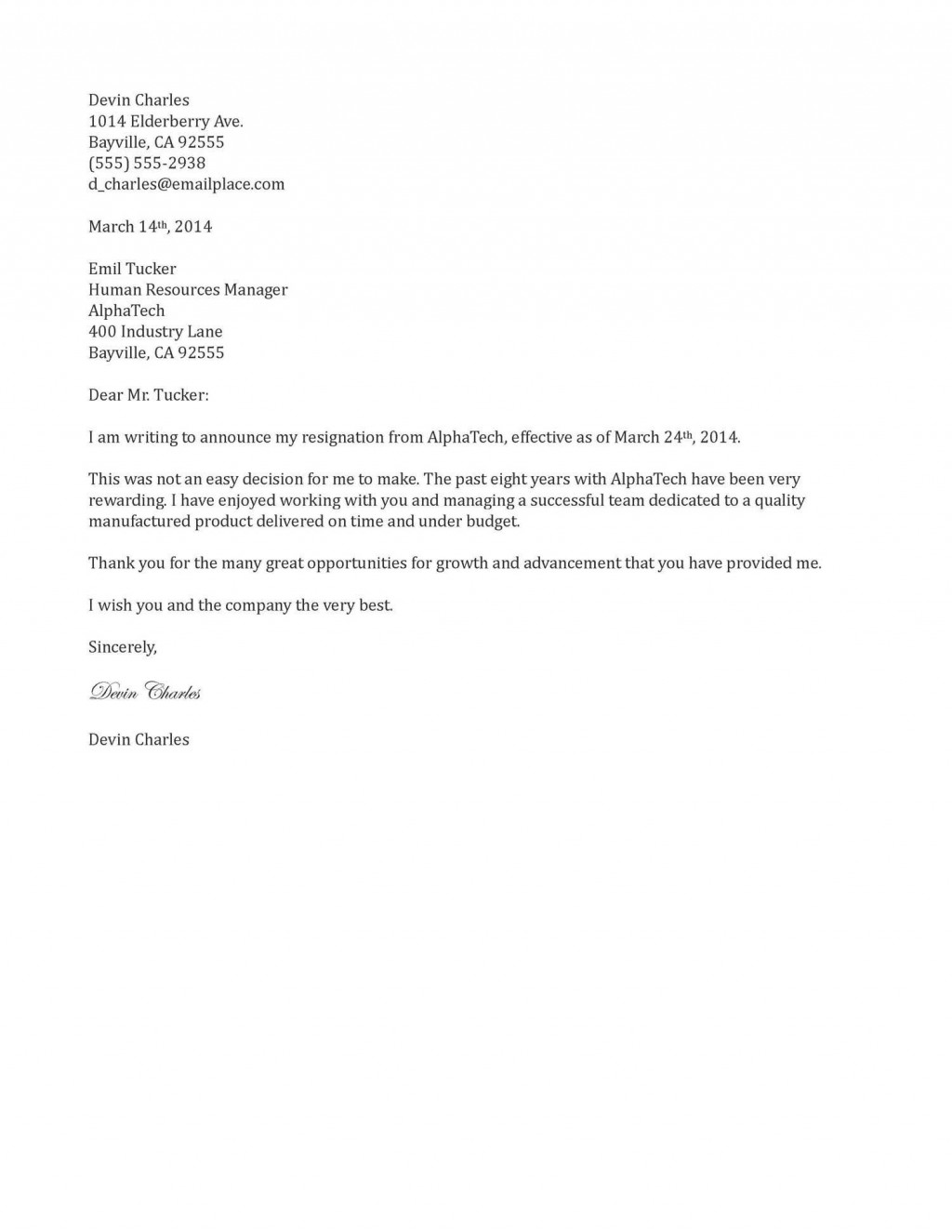 001 Rare Sample Resignation Letter Template Email Picture Large