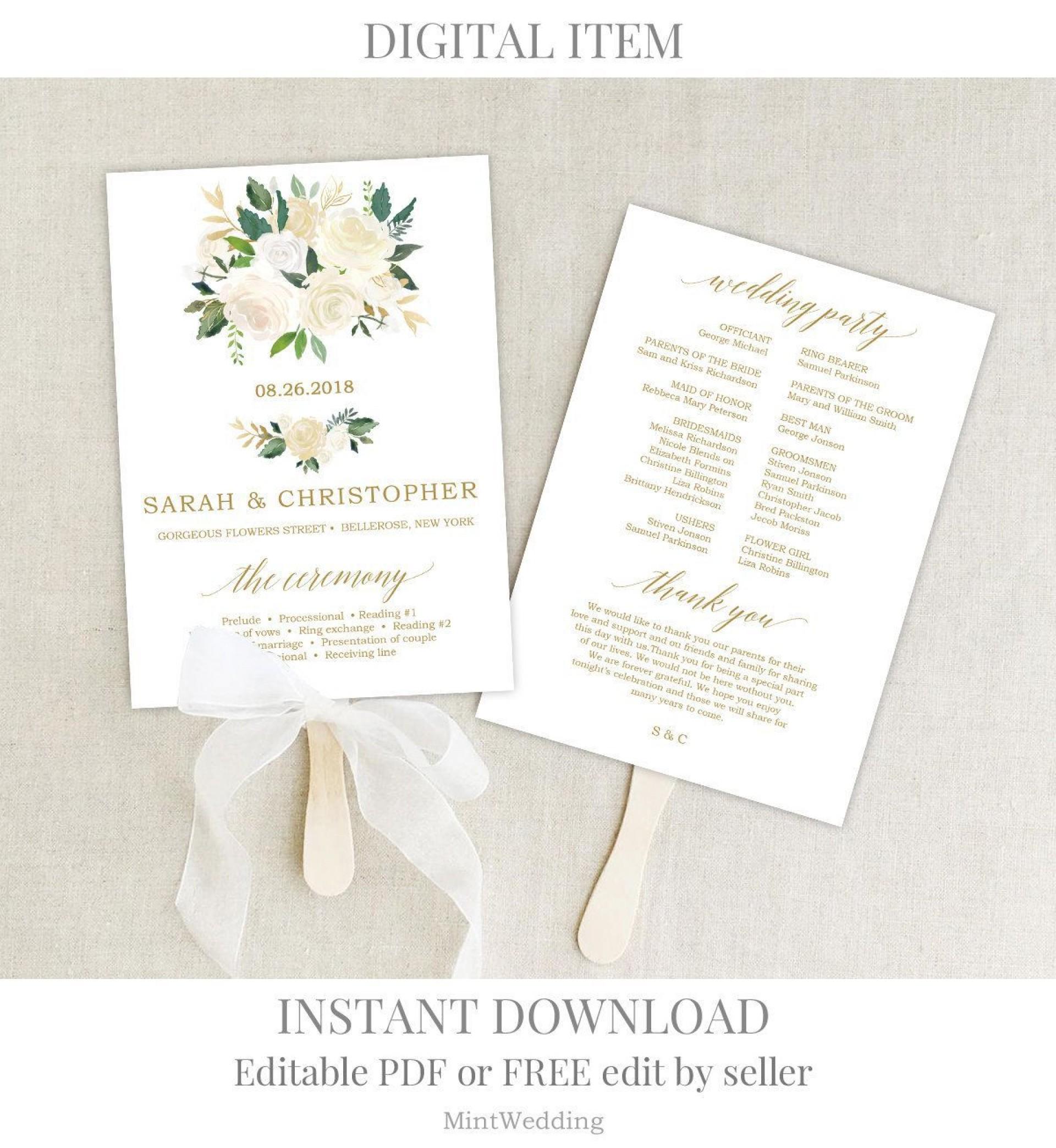 001 Rare Wedding Program Template Free Download High Def  Downloadable Pdf Reception Microsoft Word Fan1920