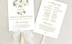 001 Rare Wedding Program Template Free Download High Def  Downloadable Fan Microsoft Word Printable Editable
