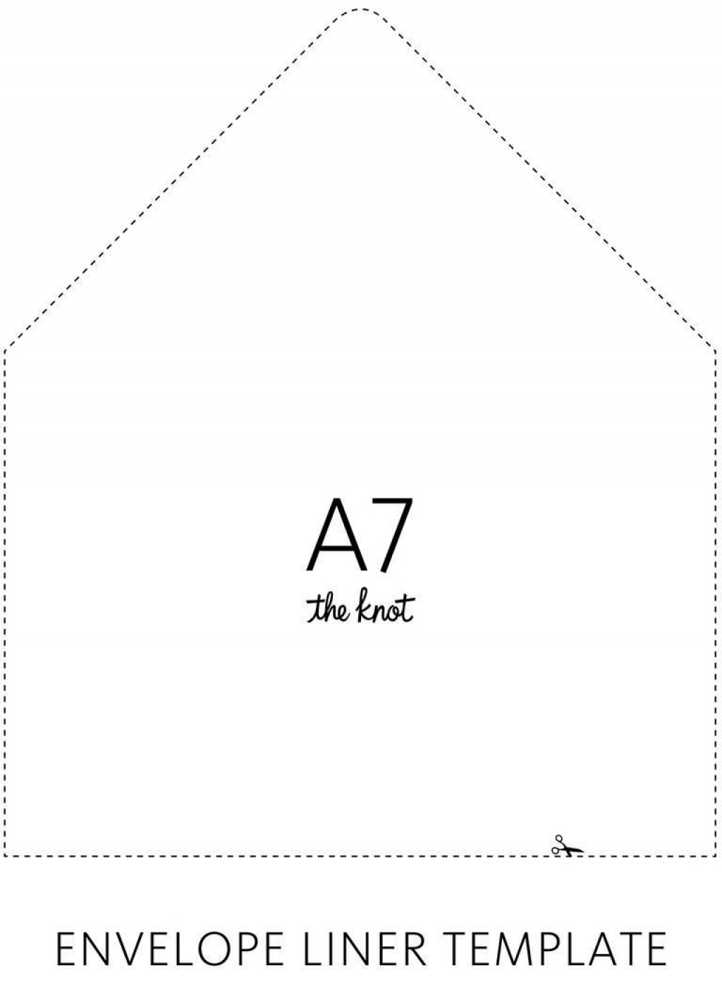 001 Remarkable A7 Square Flap Envelope Liner Template Highest Clarity Large