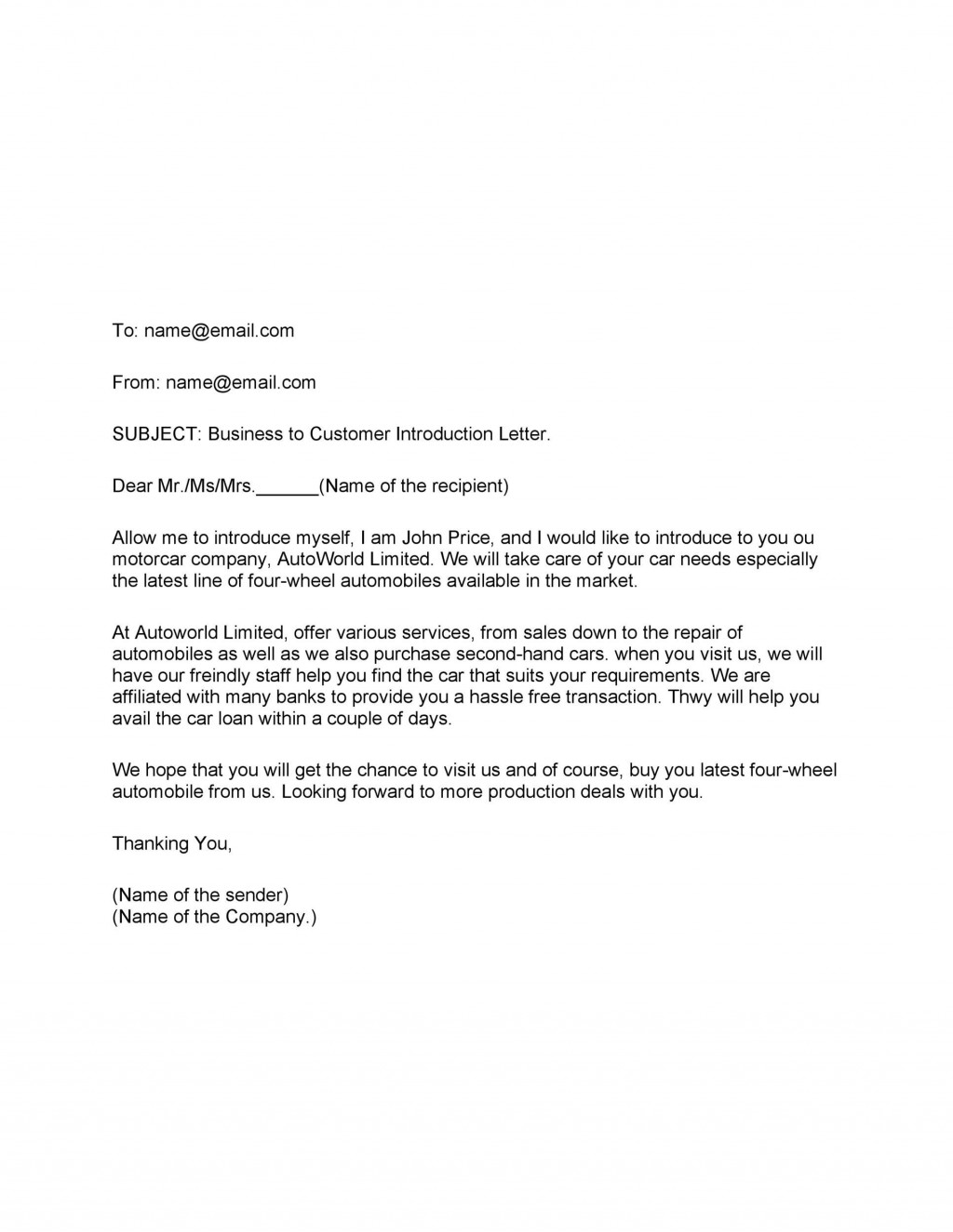 001 Remarkable Busines Introduction Email Template High Def  Professional DevelopmentLarge