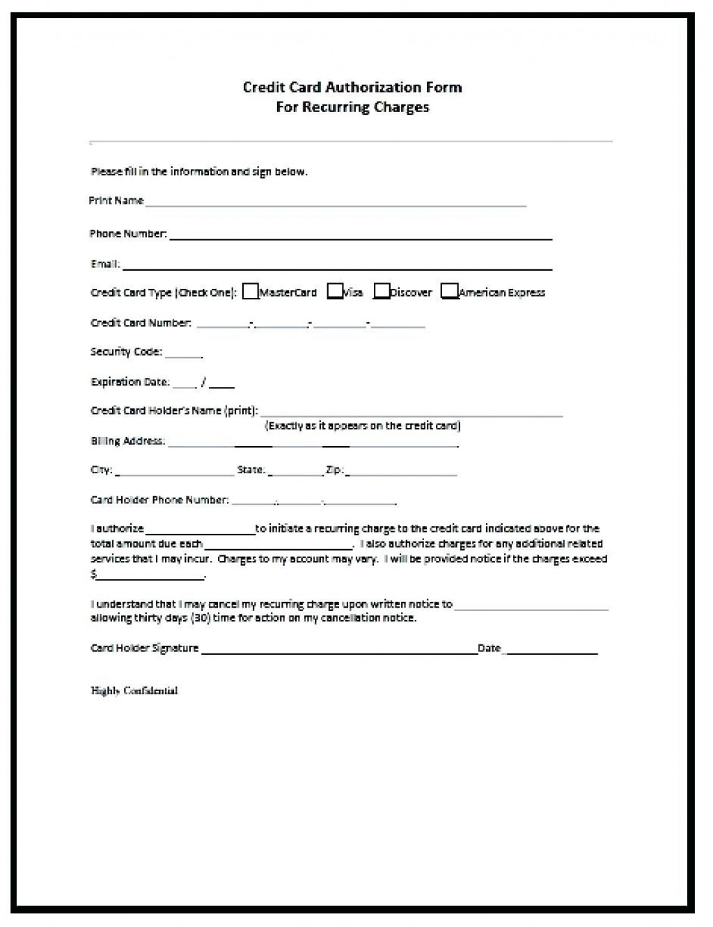001 Remarkable Credit Card Usage Request Form Template High Def Large
