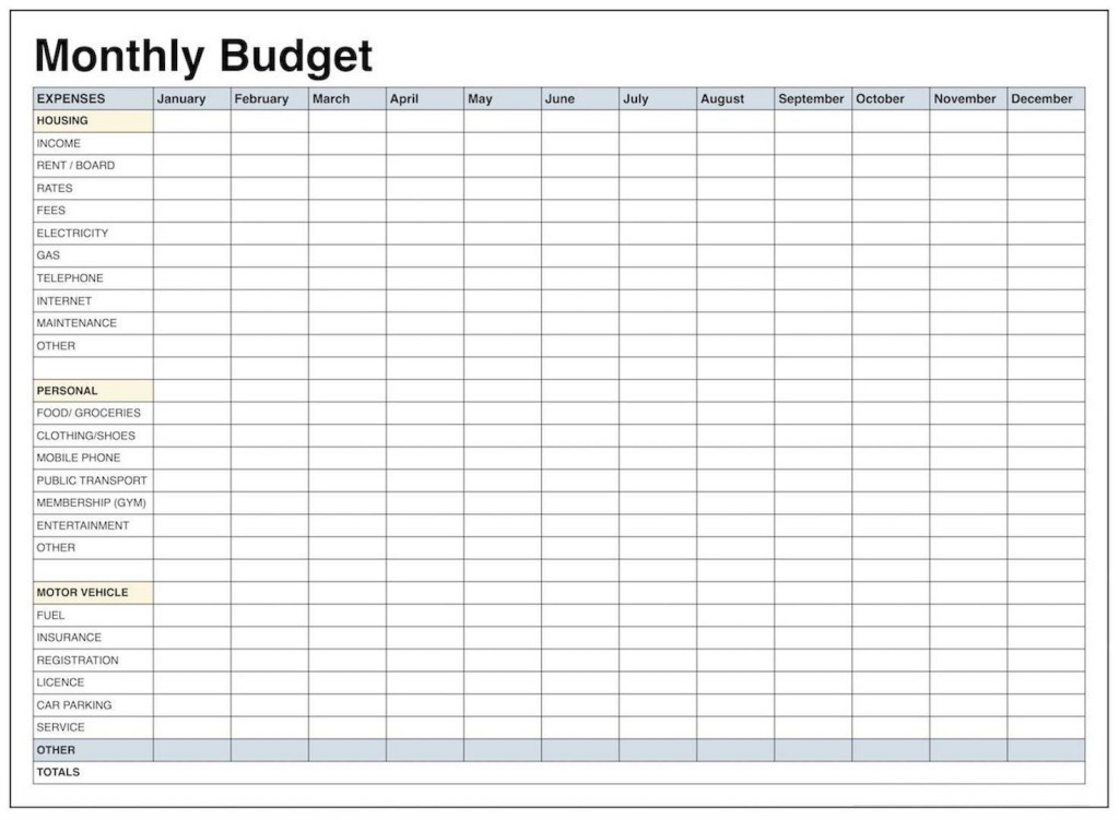 001 Remarkable Excel Monthly Budget Template High Def  South AfricaLarge