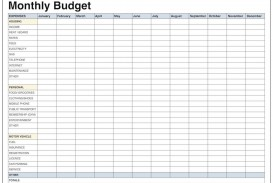 001 Remarkable Excel Monthly Budget Template High Def  South Africa