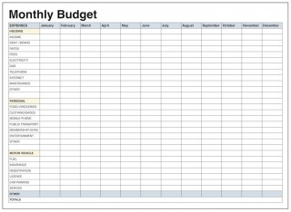 001 Remarkable Excel Monthly Budget Template High Def  South Africa320