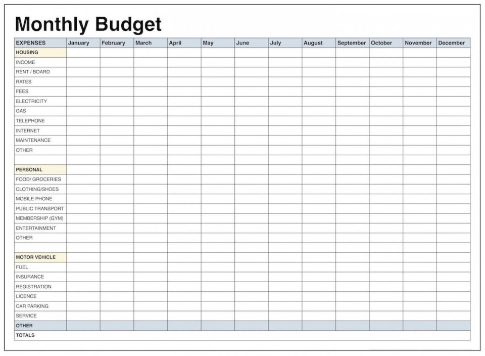 001 Remarkable Excel Monthly Budget Template High Def  South Africa960
