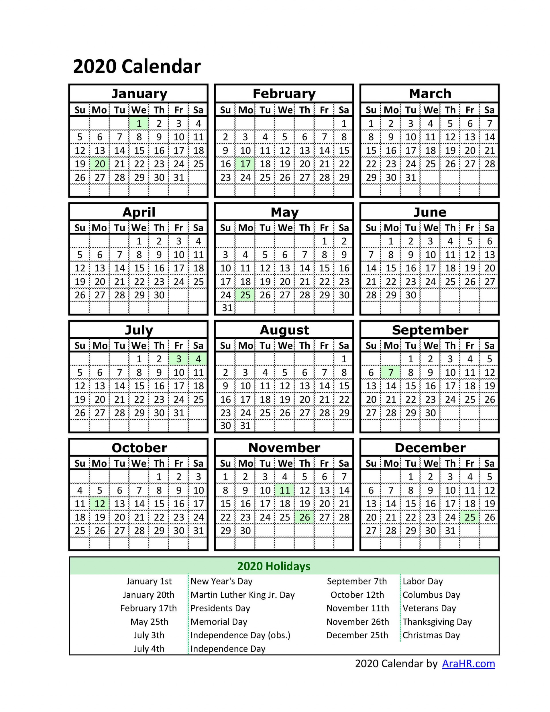 001 Remarkable Free Excel Calendar Template High Definition  2020 Monthly Download Biweekly Payroll 20181920