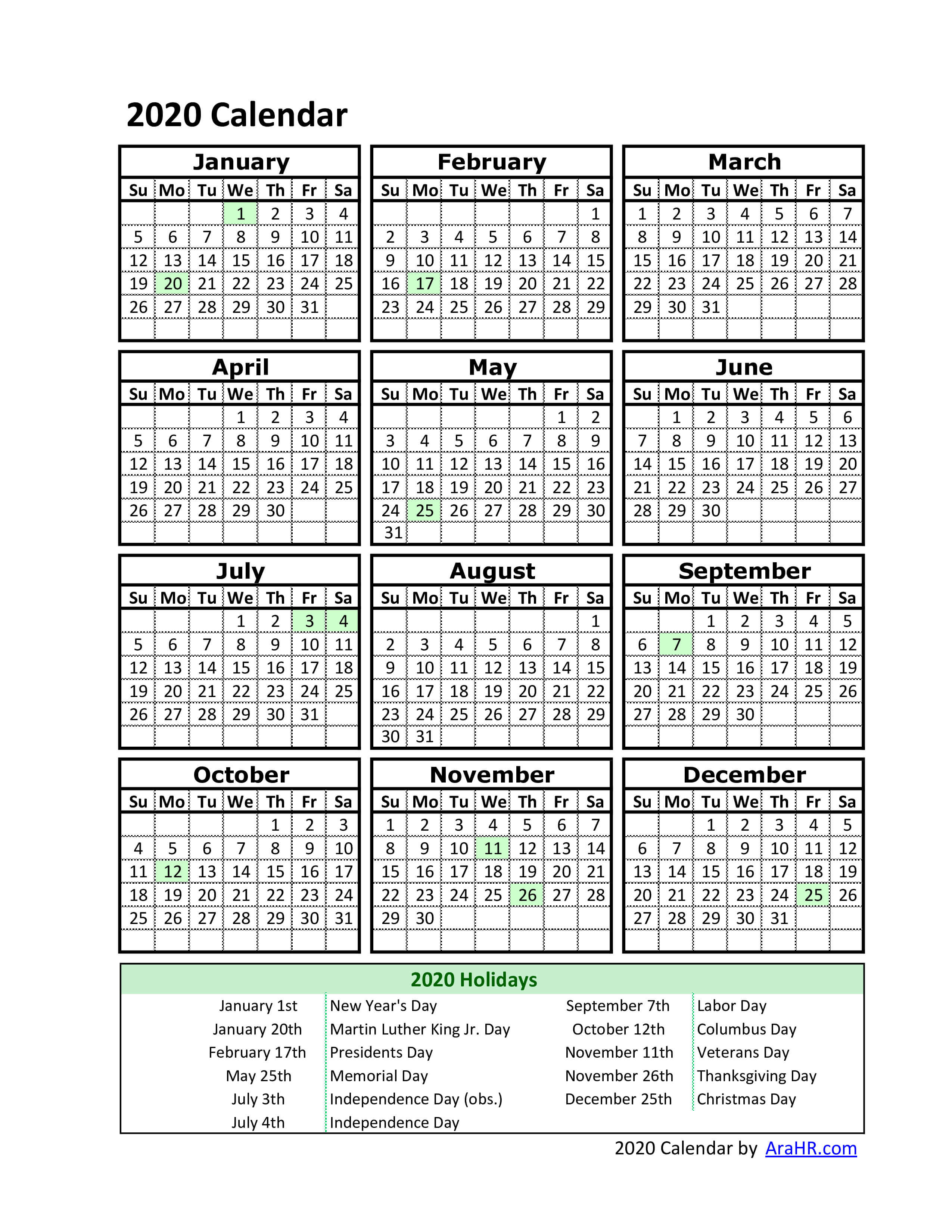 001 Remarkable Free Excel Calendar Template High Definition  2020 Monthly Download Biweekly Payroll 2018Full