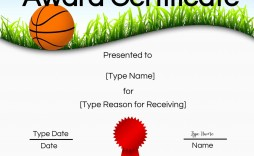 001 Remarkable Free Printable Basketball Certificate Template Idea  Templates