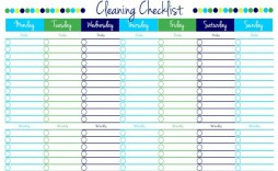 001 Remarkable Free Printable Weekly Cleaning Schedule Template Photo  Office