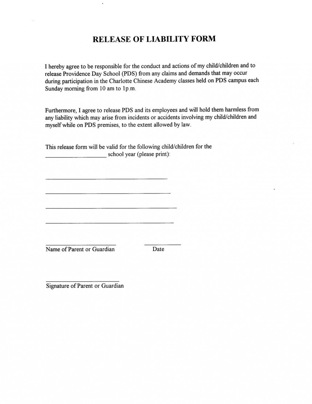 001 Remarkable Liability Release Form Template Highest Quality  Free GeneralLarge