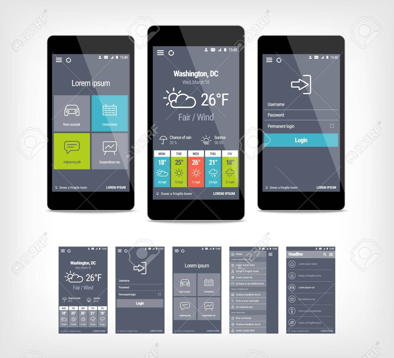 001 Remarkable Mobile App Design Template Example  Size Free Download Ui PsdFull