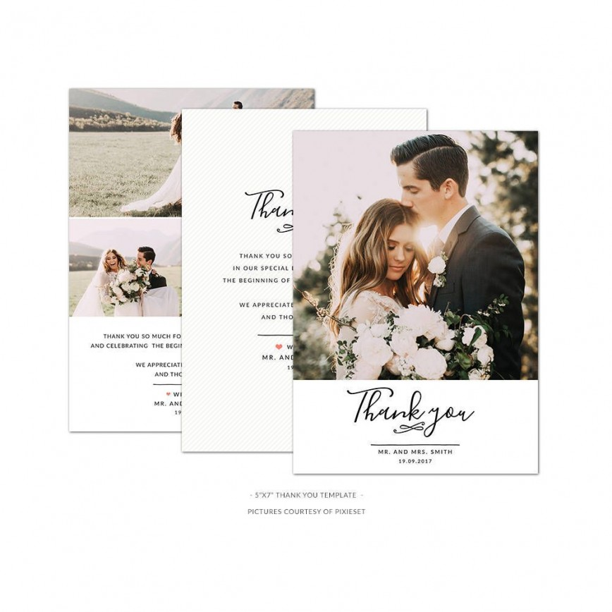 001 Remarkable Wedding Thank You Card Template Psd Highest Quality  Free