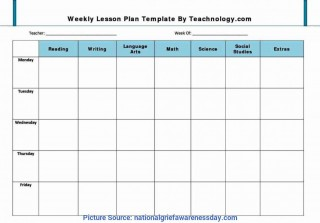001 Remarkable Weekly Lesson Plan Template Pdf Example  Blank320