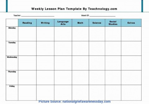 001 Remarkable Weekly Lesson Plan Template Pdf Example  Blank480