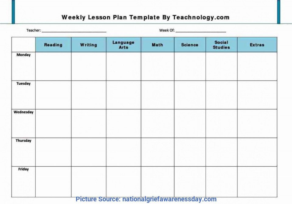 001 Remarkable Weekly Lesson Plan Template Pdf Example  Blank960