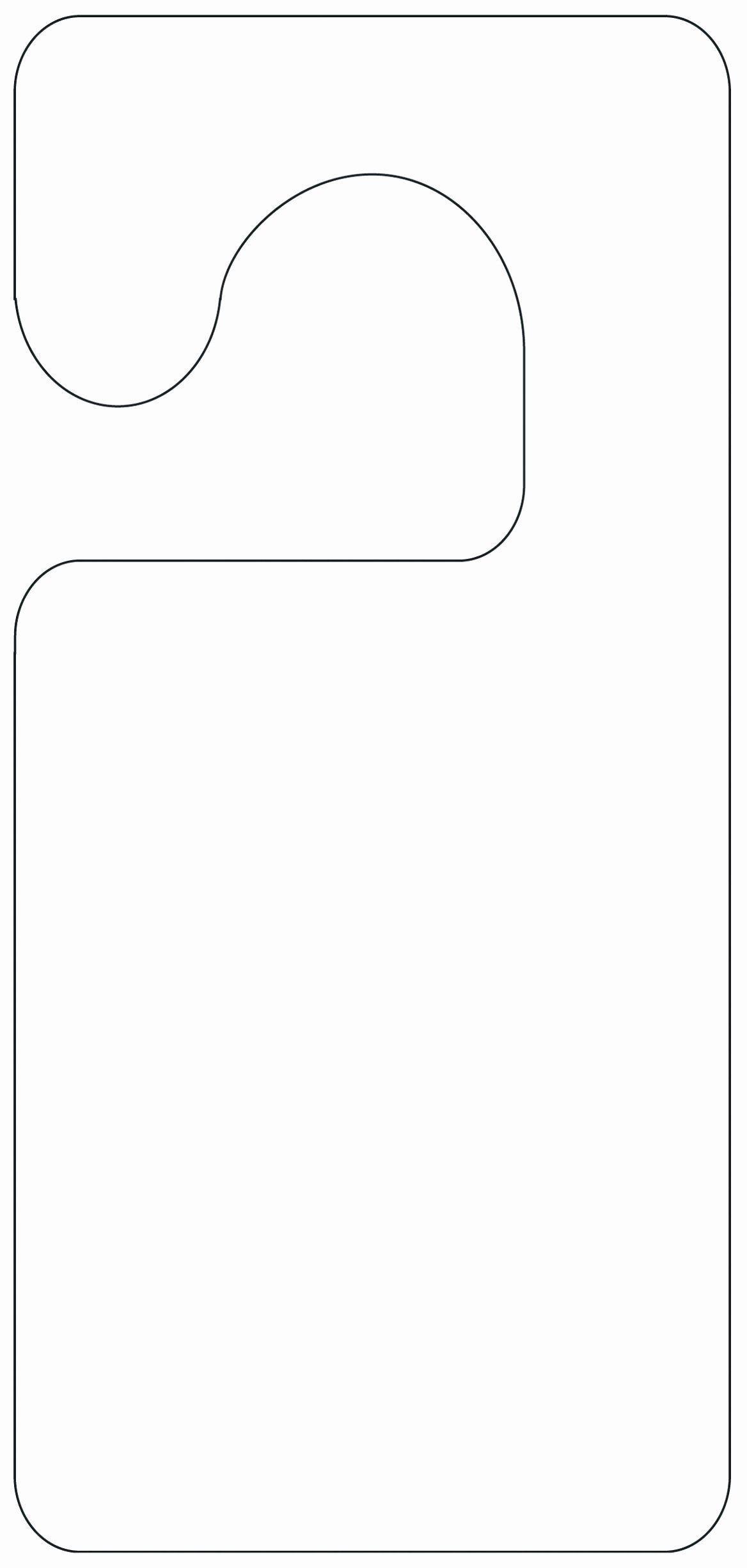 001 Remarkable Word Door Hanger Template Free Concept  MicrosoftFull