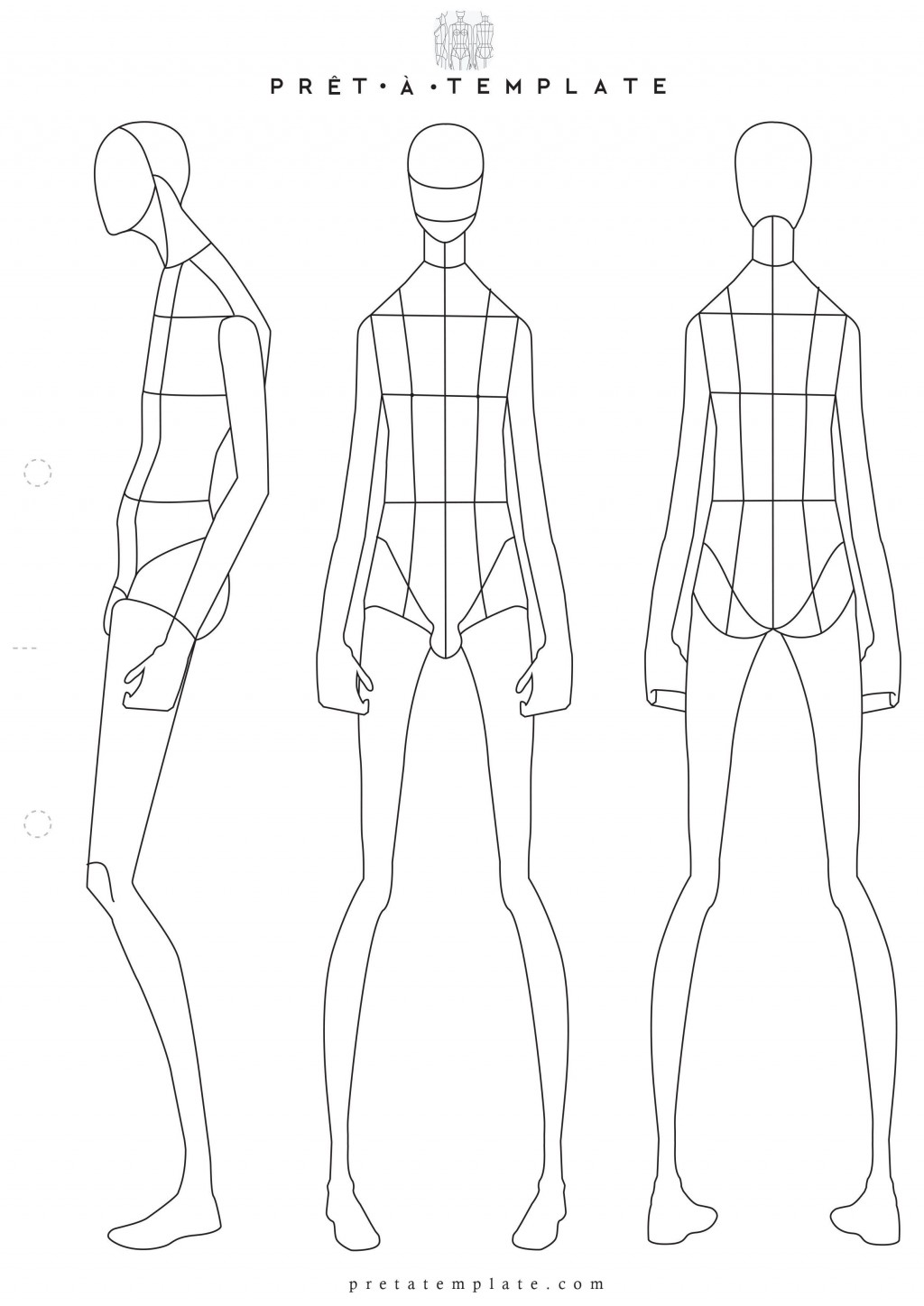 001 Sensational Body Template For Fashion Design High Definition  Female Male HumanLarge
