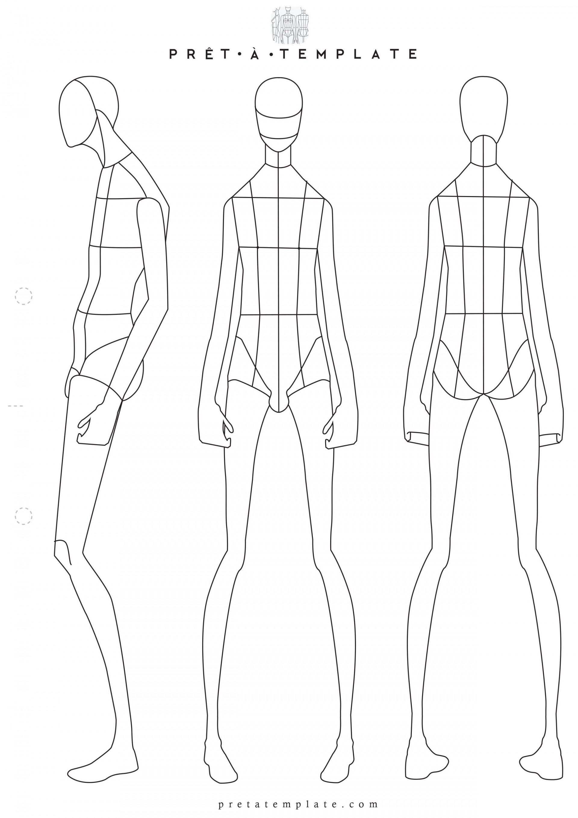 001 Sensational Body Template For Fashion Design High Definition  Female Male Human1920