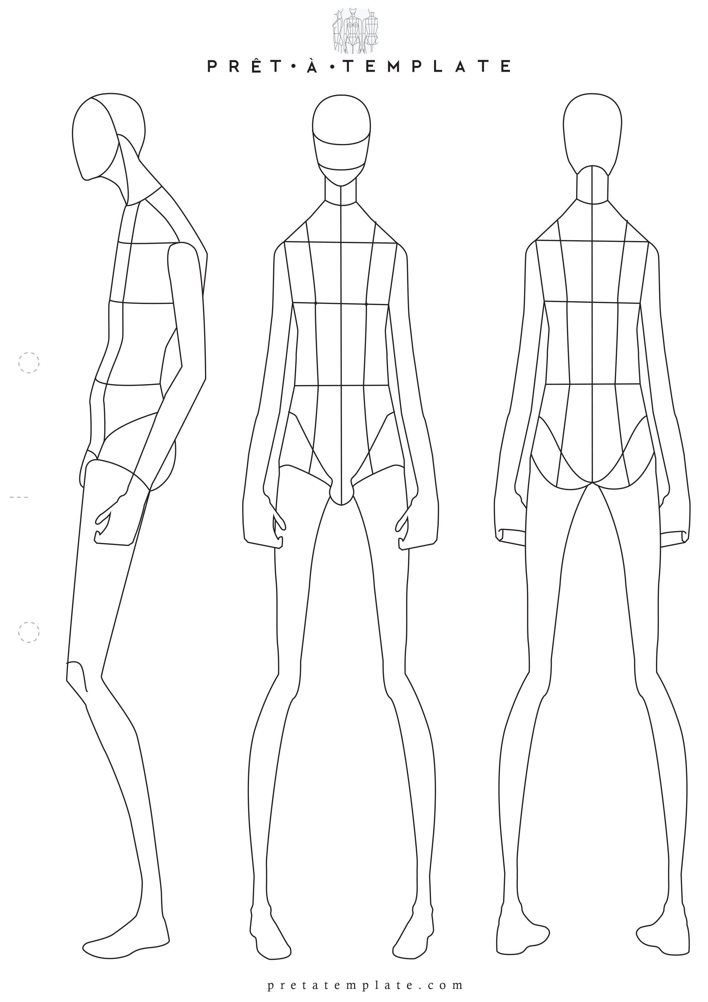 001 Sensational Body Template For Fashion Design High Definition  Female Male HumanFull