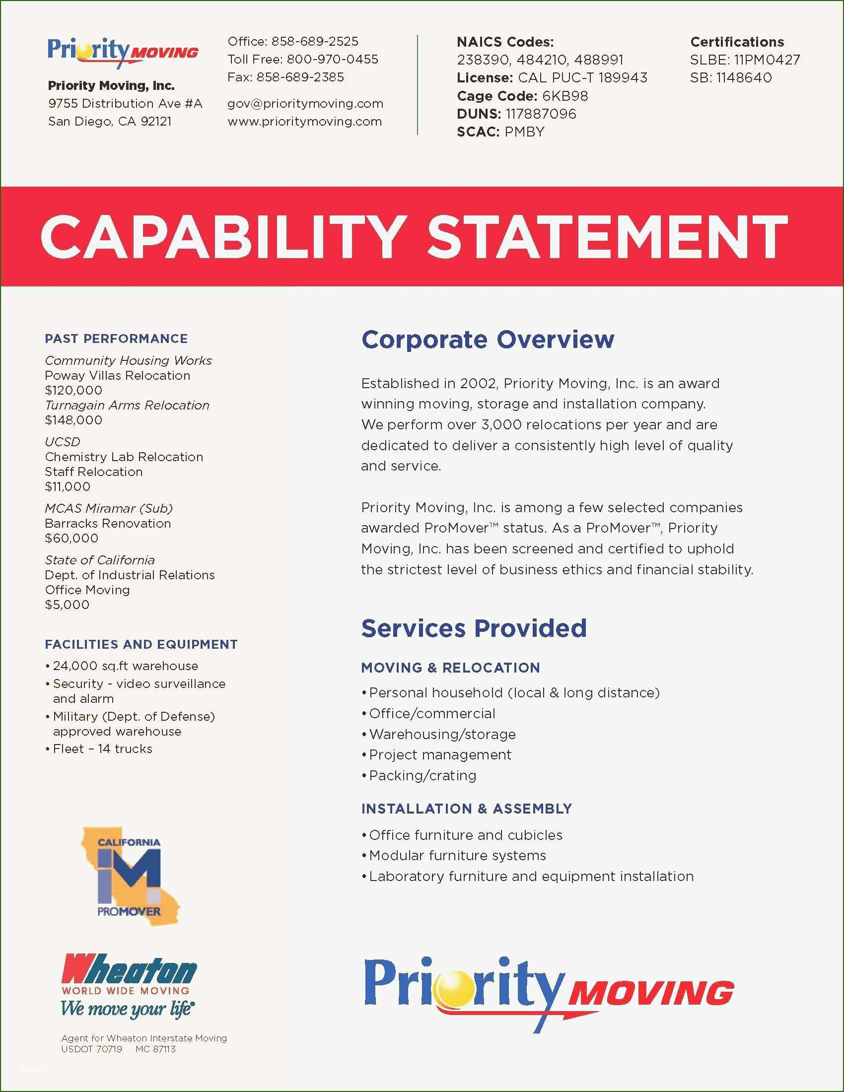 001 Sensational Capability Statement Template Word Doc Idea  Document FreeFull