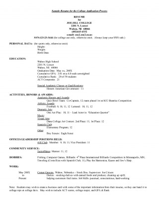 001 Sensational College Admission Resume Template High Def  Microsoft Word Application Download320