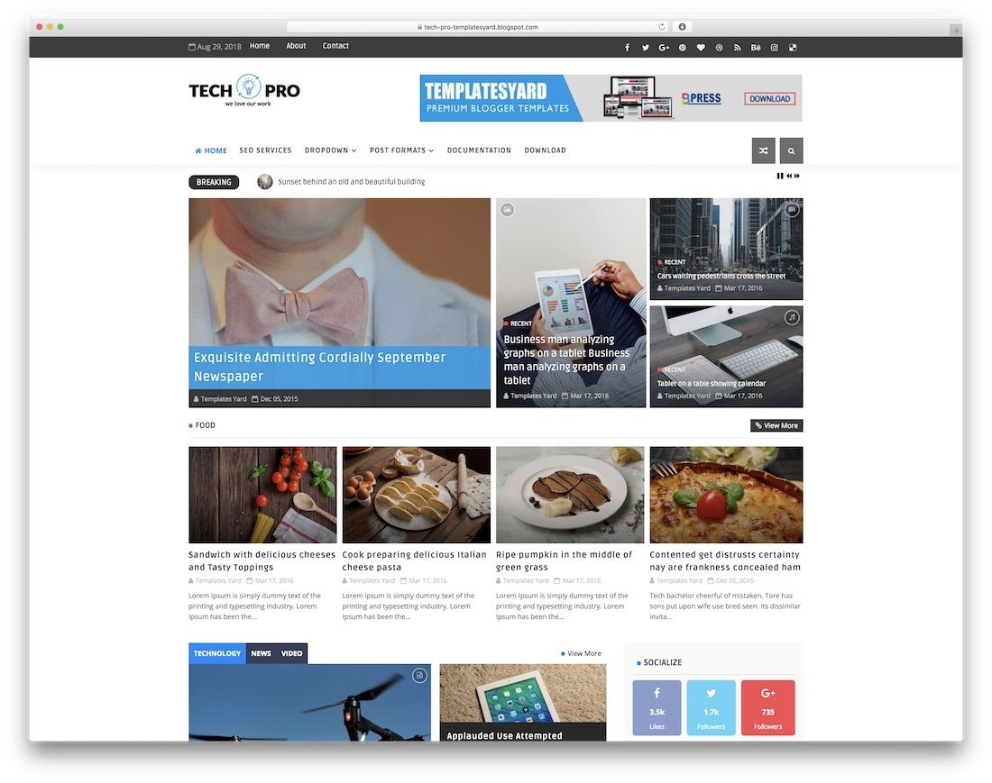 001 Sensational Free Best Blogger Template 2015 Inspiration Full