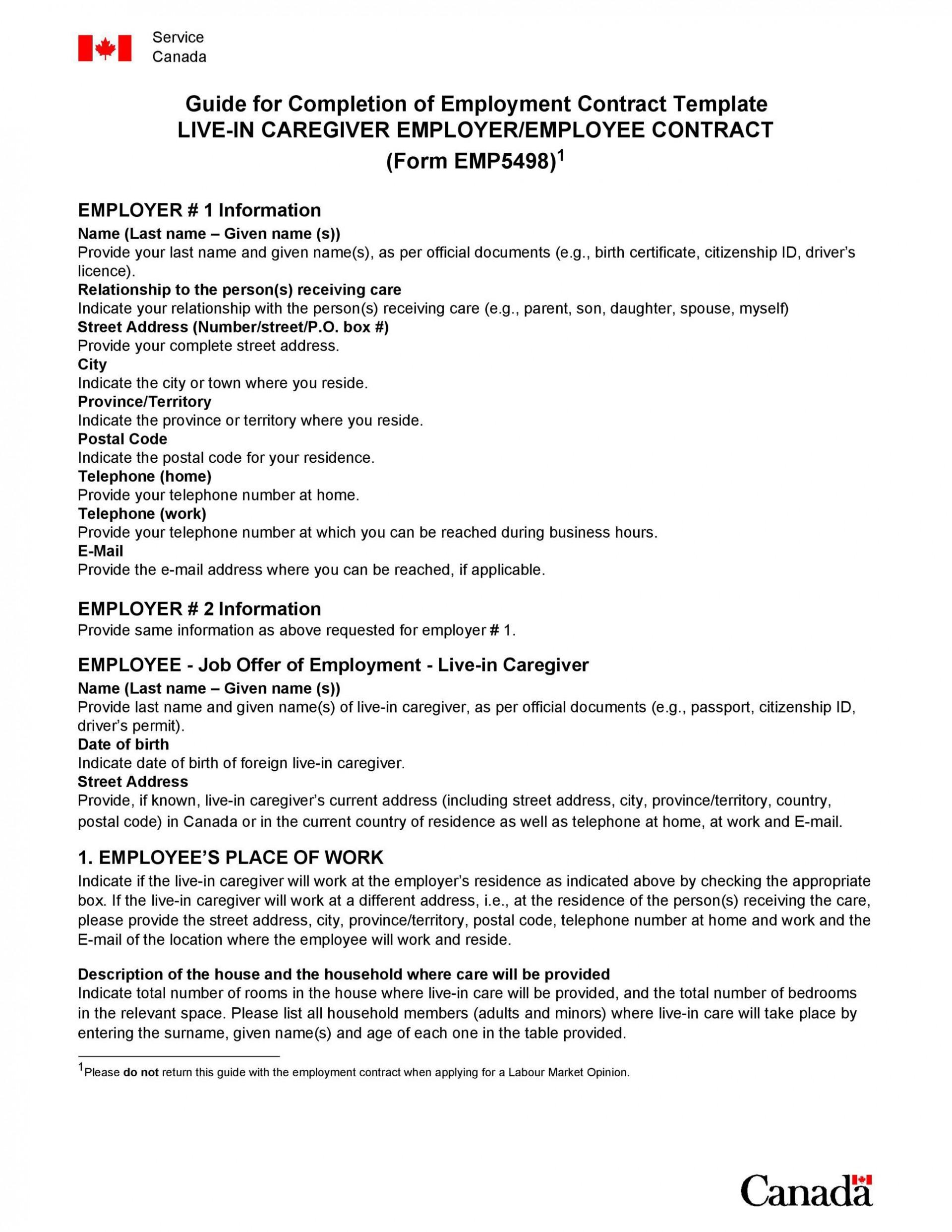 001 Sensational Free Casual Employment Contract Template Australia Sample 1920