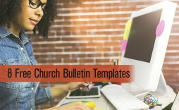 001 Sensational Free Church Bulletin Template Word High Resolution  Program For