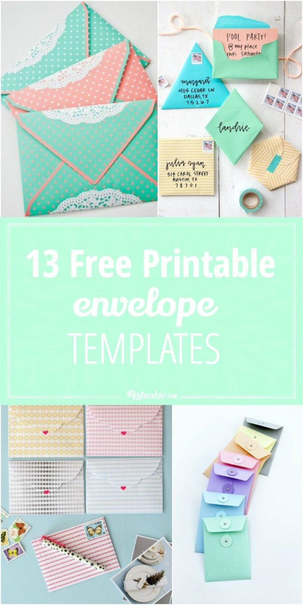 001 Sensational Free Printable Envelope Template Highest Clarity  Templates Addres Mini PatternLarge