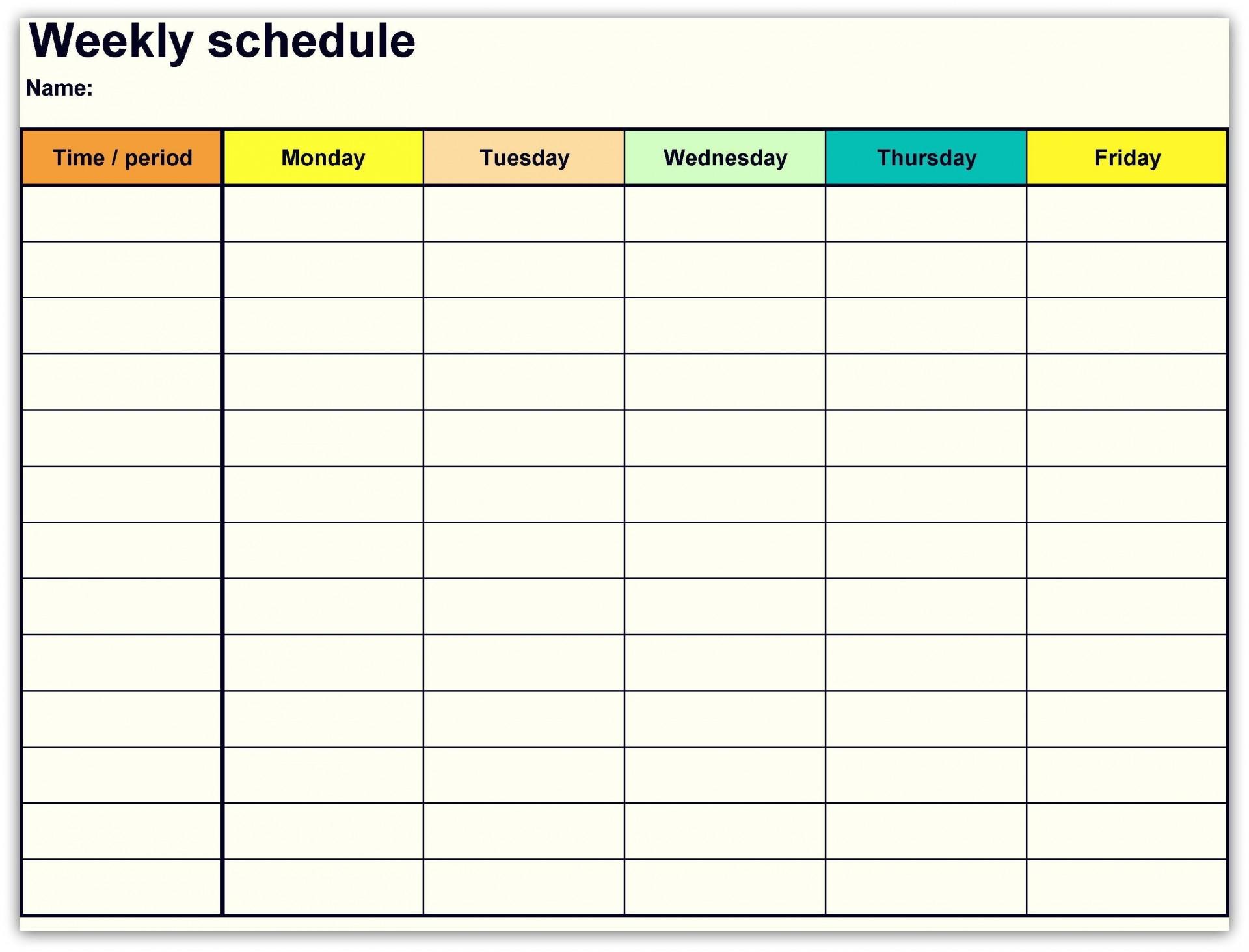 001 Sensational Free Printable Weekly Calendar Template 2018 High Resolution 1920