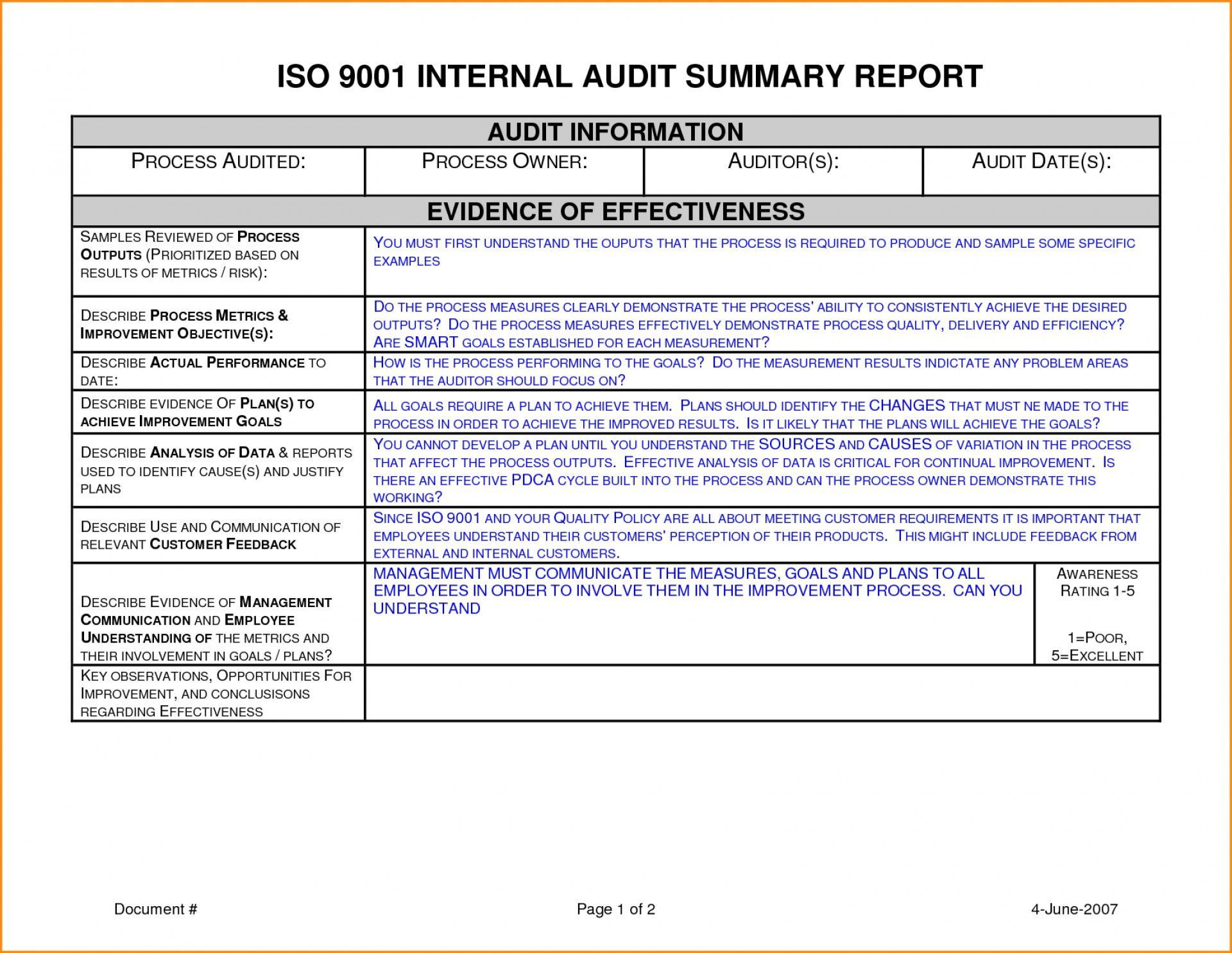 001 Sensational Internal Audit Report Template Design  Powerpoint Format In Word Download FreeFull